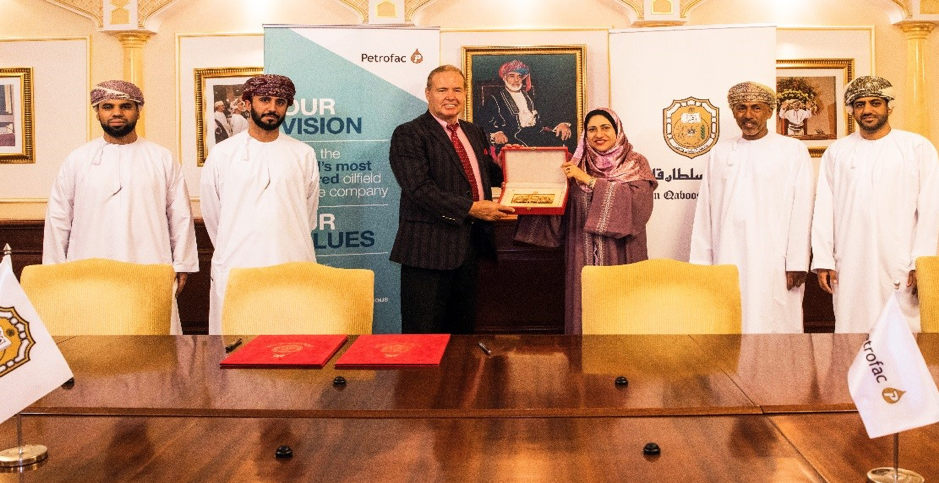 Petrofac and Sultan Qaboos University sign agreement to support Engineering students in Oman